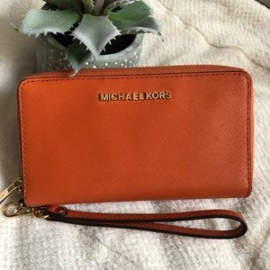 Micheal Kors Orange Wallet